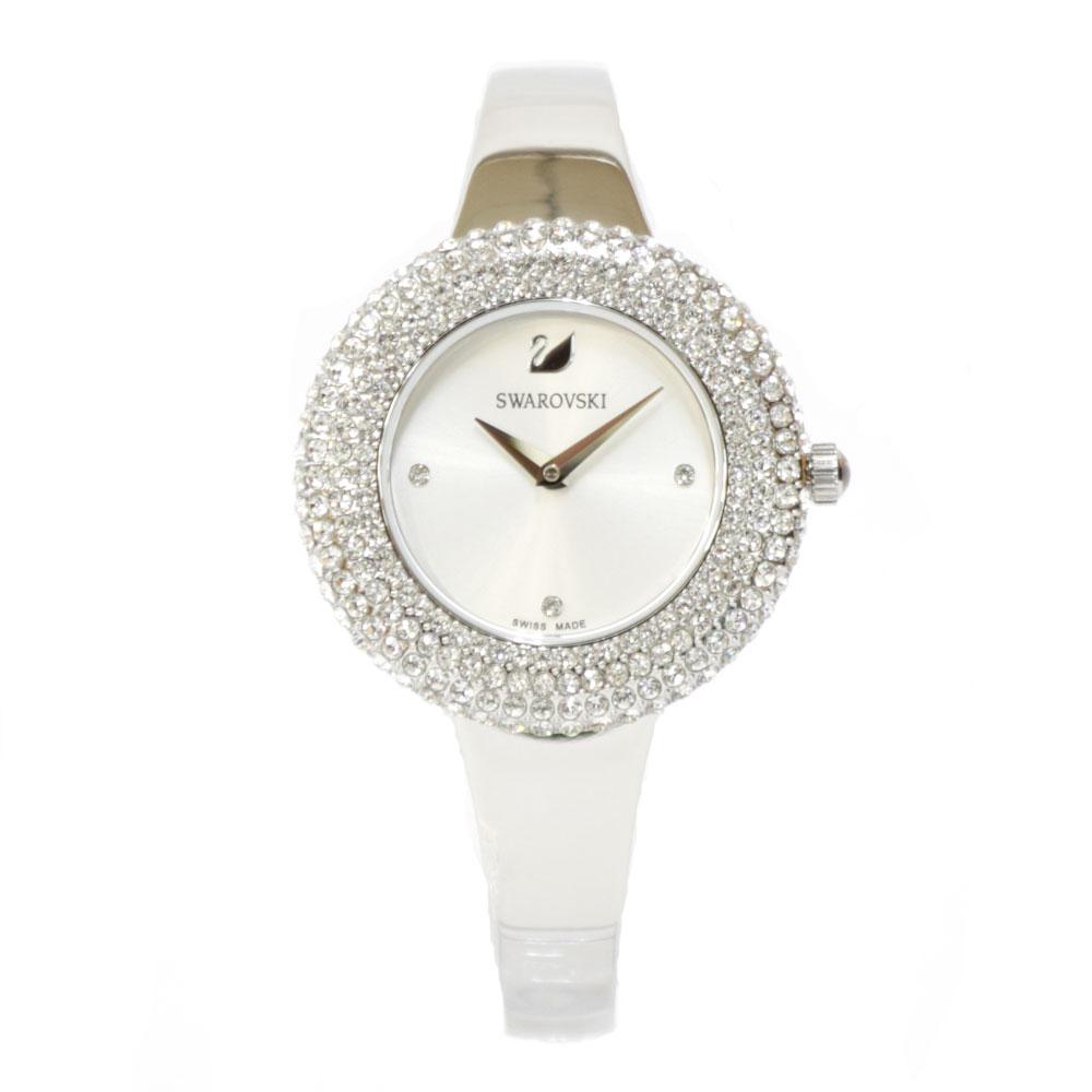 時計 SWAROVSKI Crystal Rose ステンレス【腕回り約17.5cm※サイズ調整承ります】