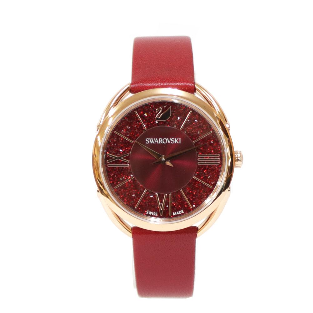 時計 SWAROVSKI Crystalline Glam ステンレス レザー【腕回り約15.0-19.5cm】