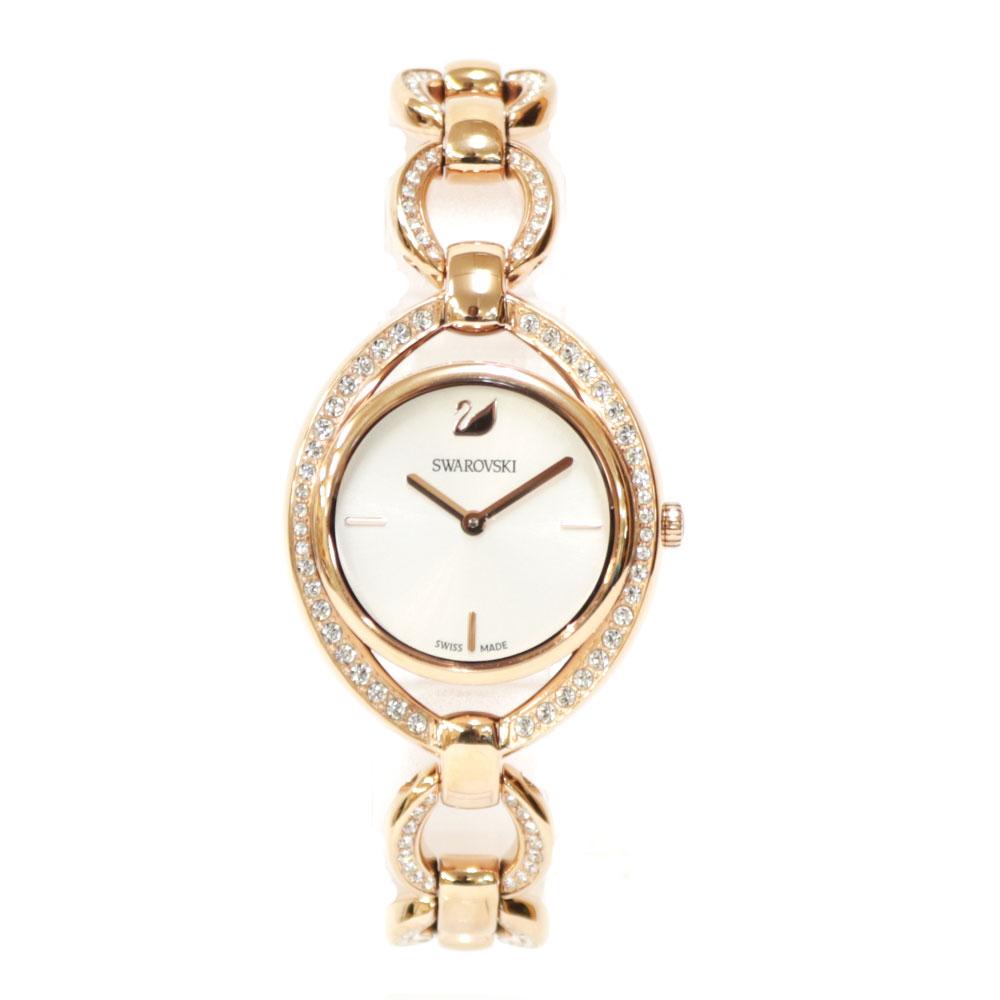 時計 SWAROVSKI STELLA ステンレス【腕回り約17.5cm※サイズ調整承ります】