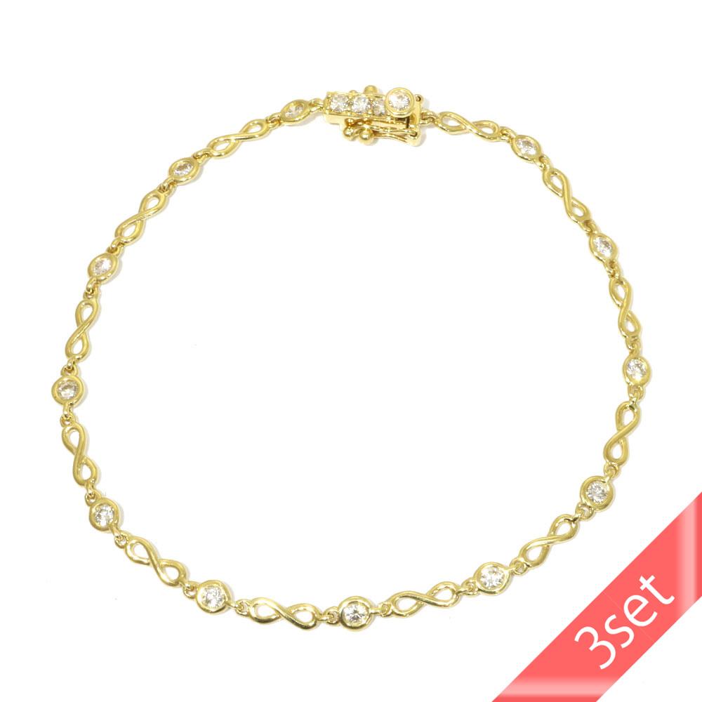 【3set】K18 ダイヤモンド ブレスレット ◇ K18 ダイヤネックレス◇ K18 ダイヤパールピアス