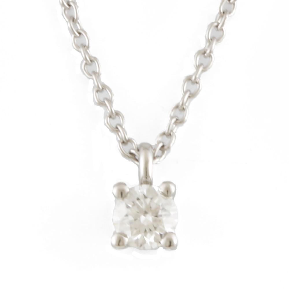PT950 ソリティア ダイヤモンド ネックレス