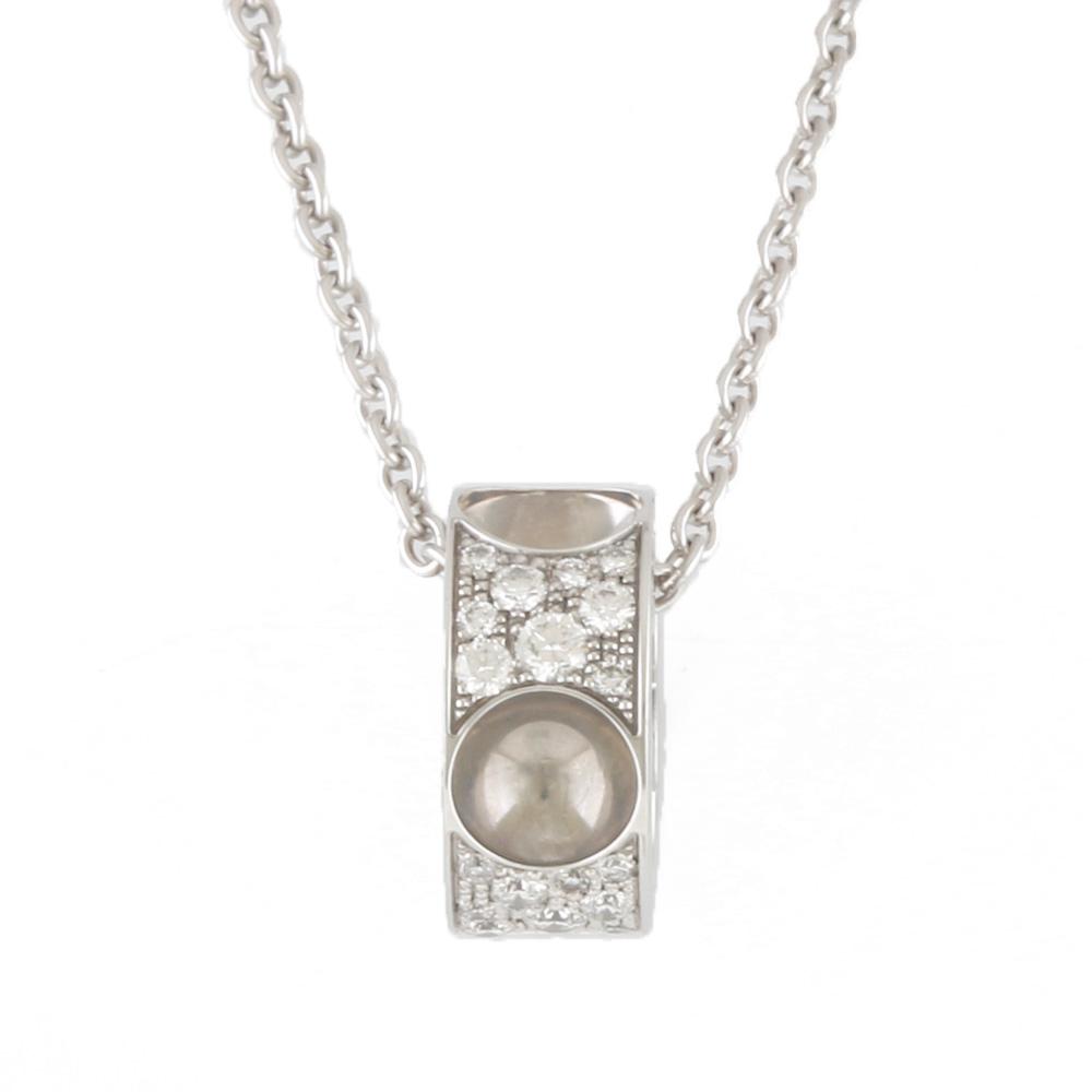K18WG パンダンティフ アンプラント ダイヤモンド ネックレス