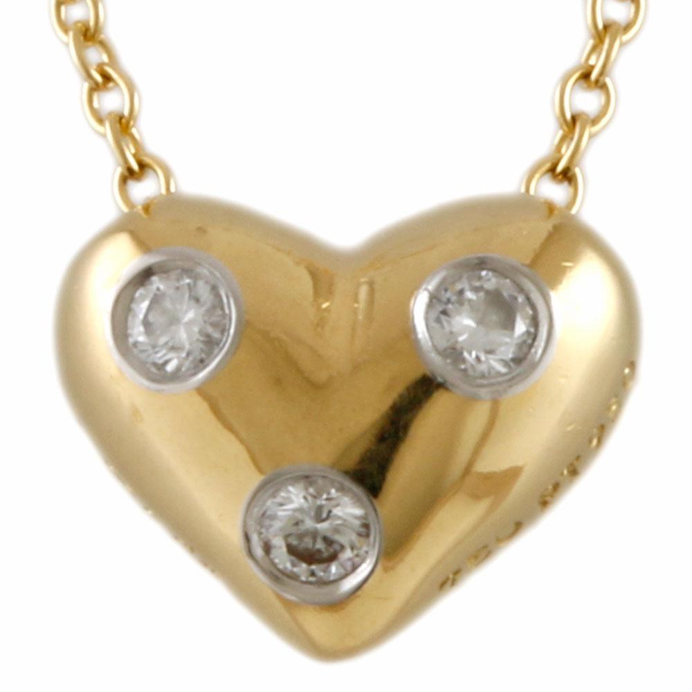 K18 PT950 ドッツ ダイヤモンド ネックレス