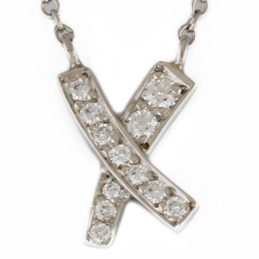 PT950 キス ダイヤモンド ネックレス