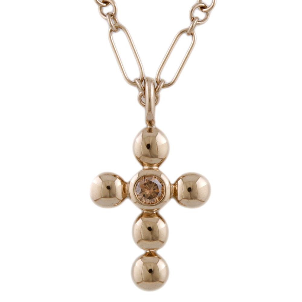 K18 クロス ダイヤモンド ネックレス