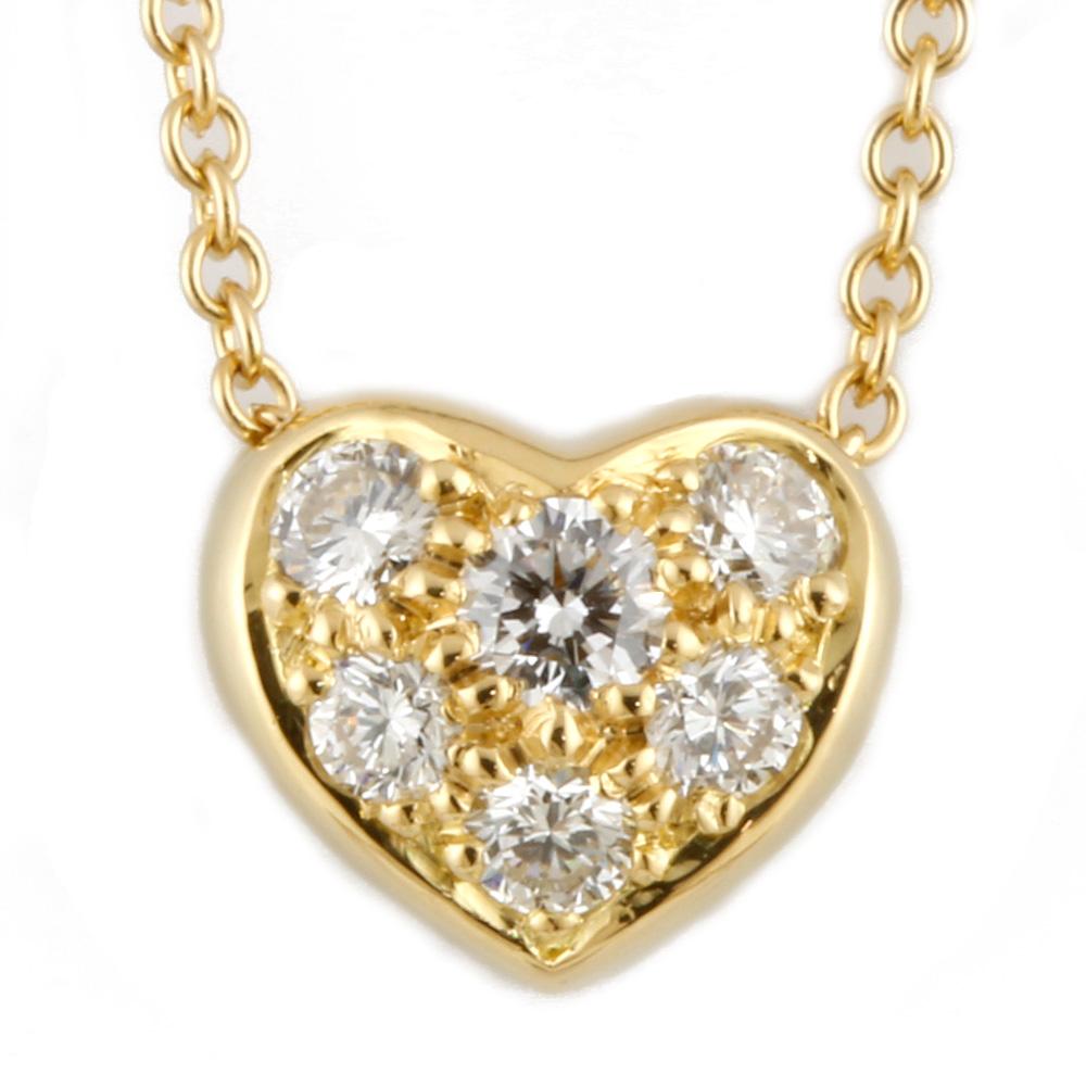 K18 ダイヤモンド パヴェハート ネックレス