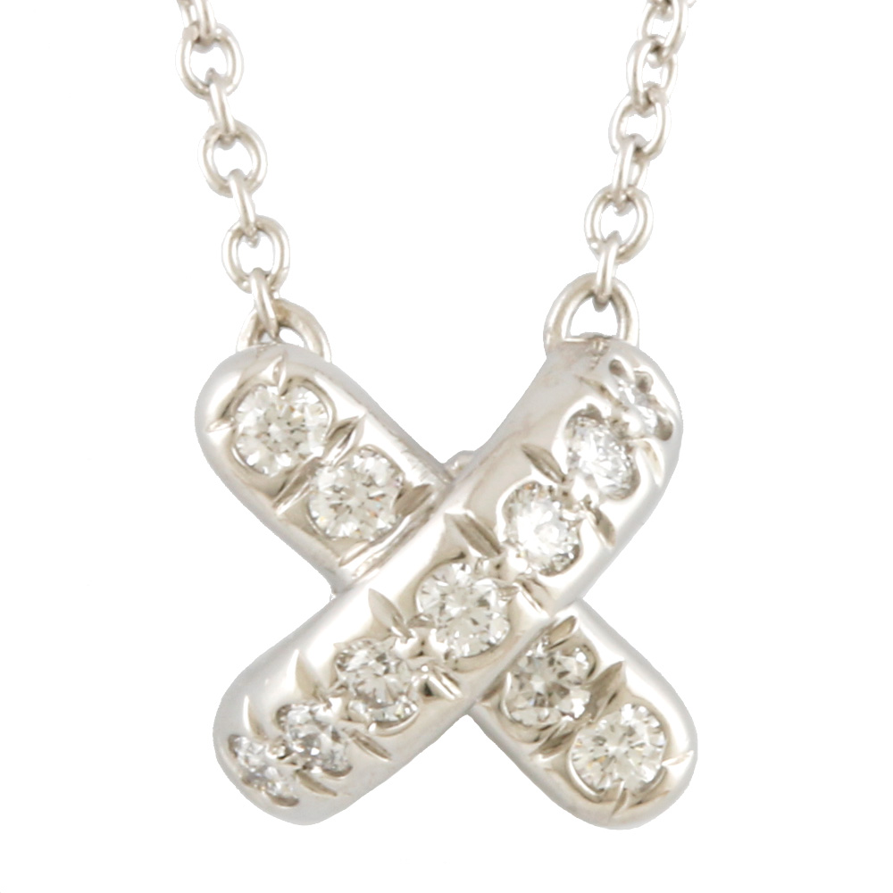 PT950 ダイヤモンド クロスステッチ ネックレス
