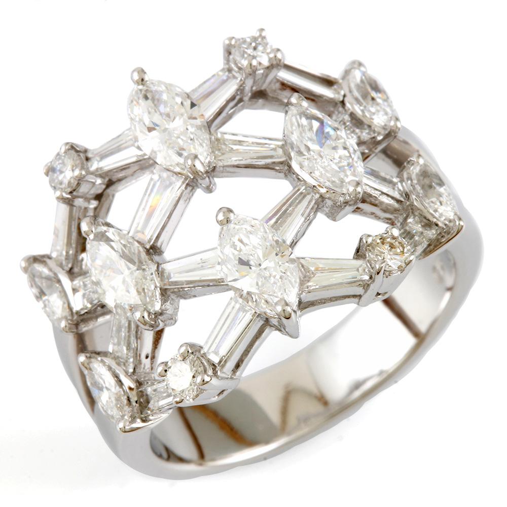 K18WG ダイヤモンドリング【12.5号】