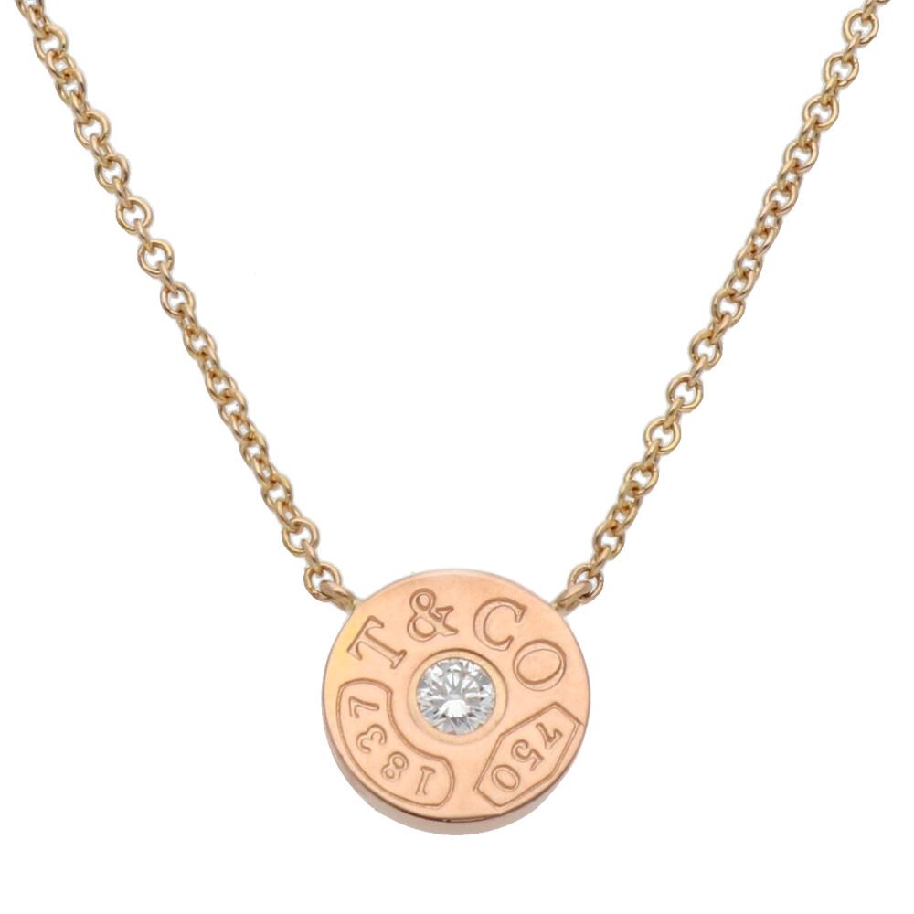 K18/K18PG ダイヤモンド 1837 サークル ネックレス