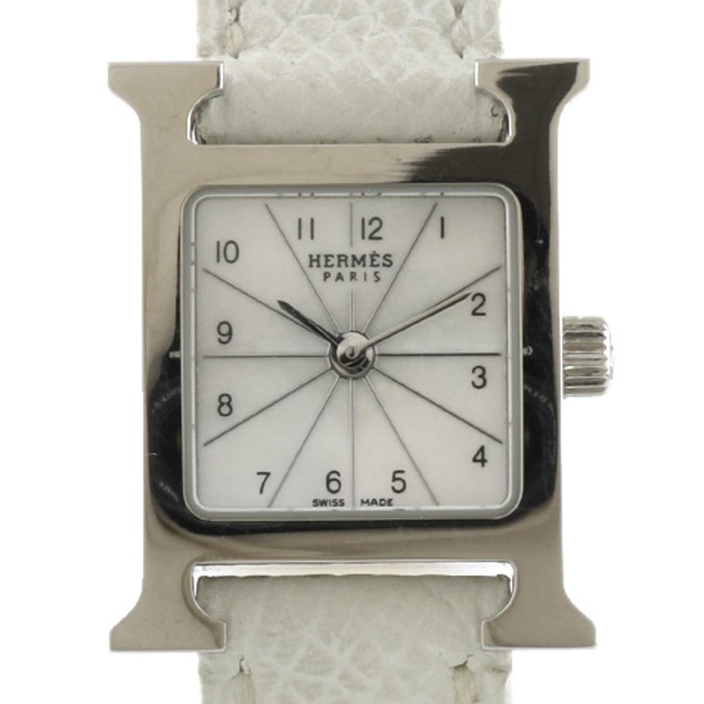 時計 Hウォッチミニ ホワイトシェル【腕回り約13.0~15.5cm】