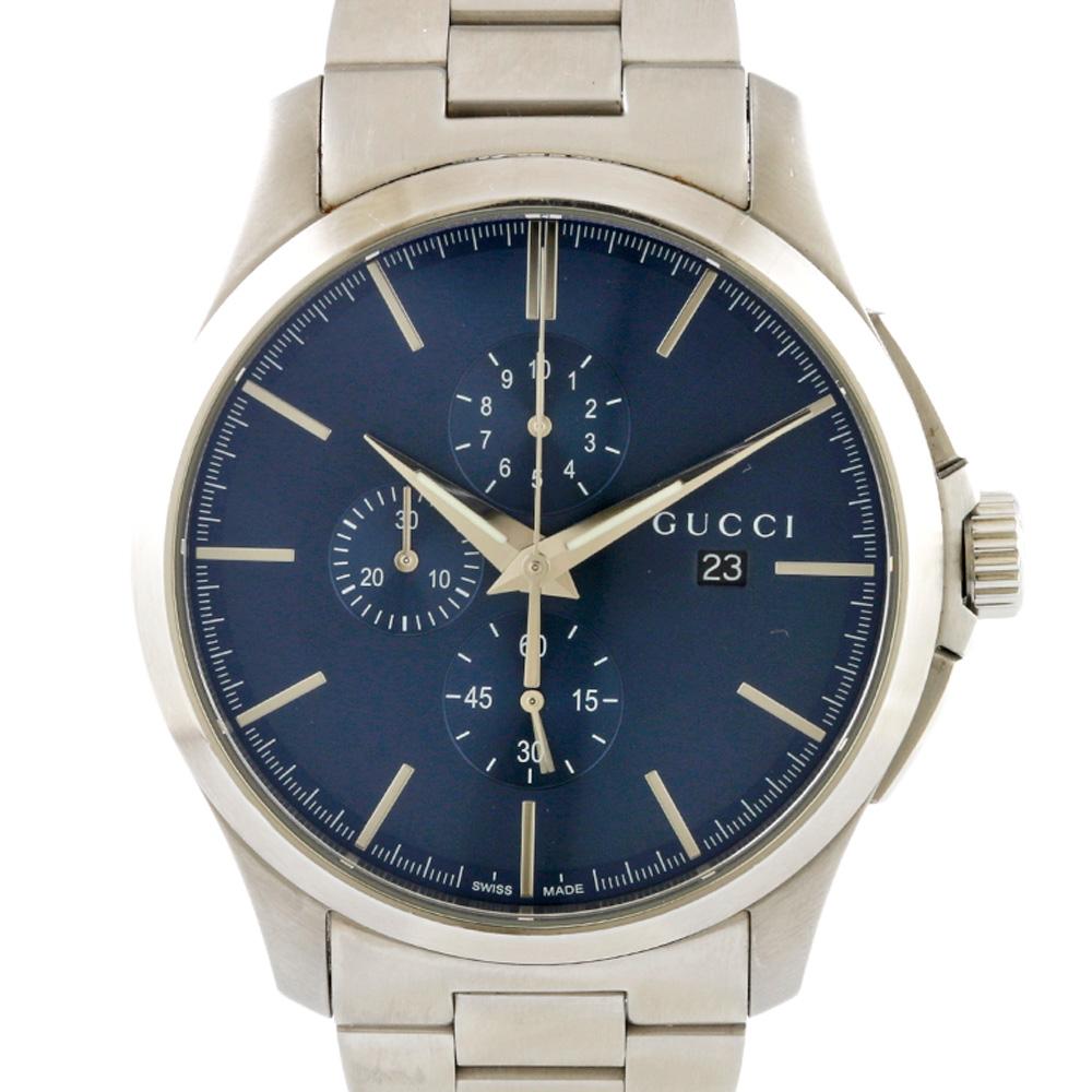 時計 GUCCI Gタイムレス クロノグラフ【腕回り約18.0cm】