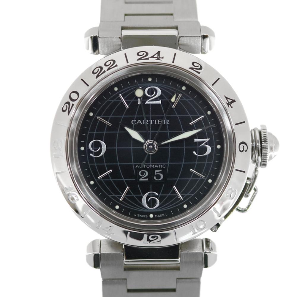 時計 Cartier パシャC メリディアン ビッグデイト【腕回り約17.5cm】