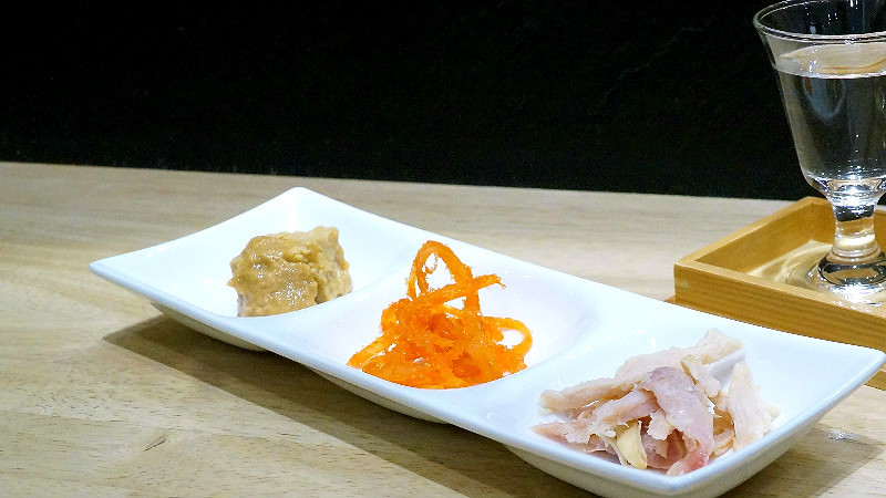Assortment of three appetizers