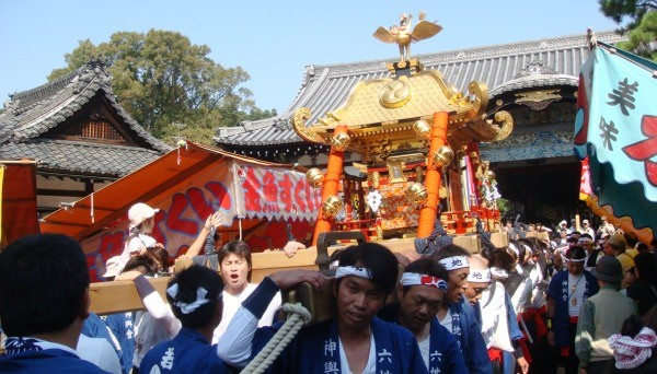 Stalls in the Shinkosai festival