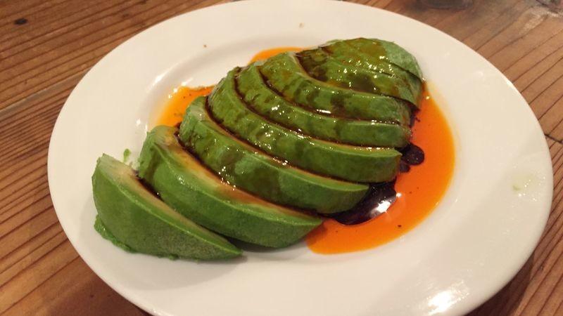chili oil avocado
