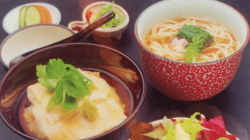 花豆皮澆汁套餐(Hana-yuba ankake set)