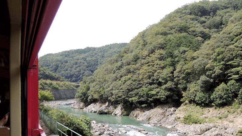從嵯峨野觀光鐵道見到的風景