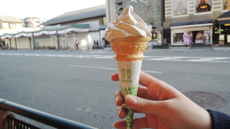 Kuromame soft ice cream (Take-out)