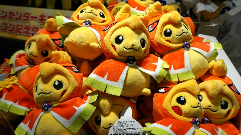 Poncho-wearing Pikachu