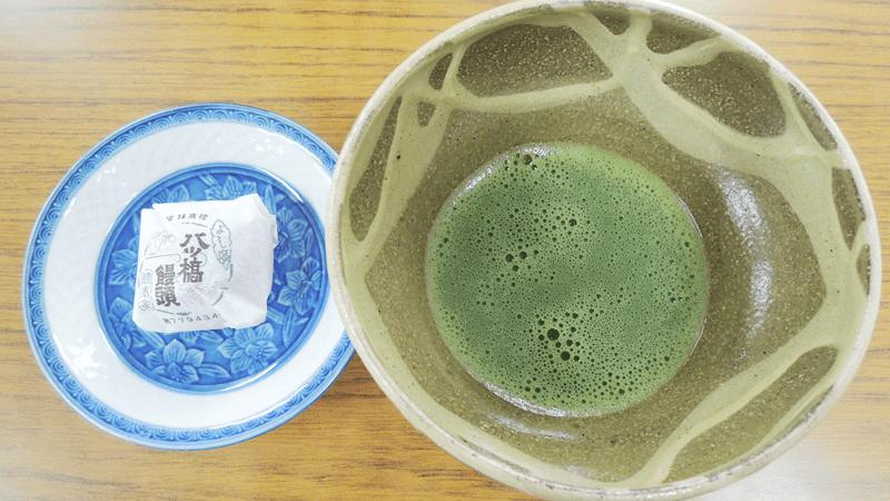 搭配抹茶享用甜點