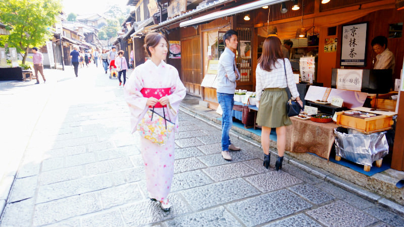Walking in Gion