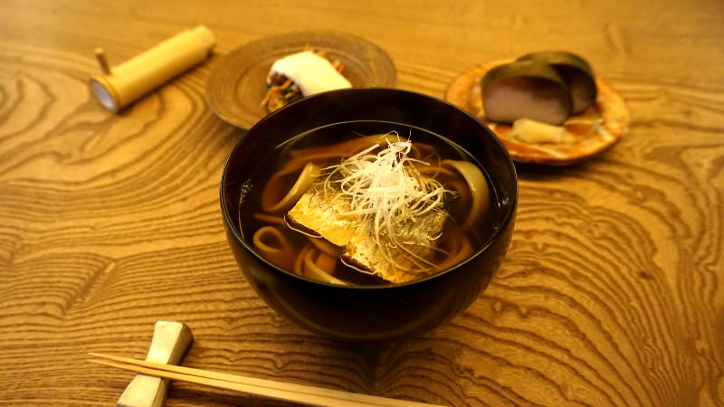 Soba, Saba-zushi (mackerel sushi), and Small Dish Set