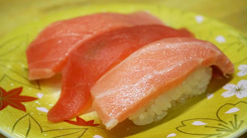綜合鮪魚握壽司(大腹、鮪魚、中腹)