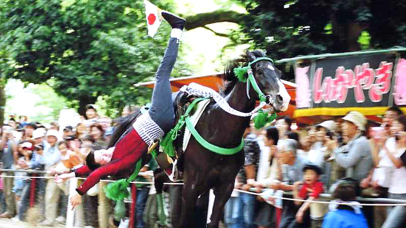 The horse-riding ritual where the rider and the horse become one