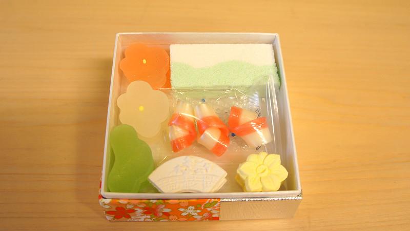 Higashi tsumeawase,什錦乾菓子