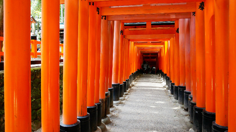 "Senbon Torii Also Known As ""Thousand Gates"""