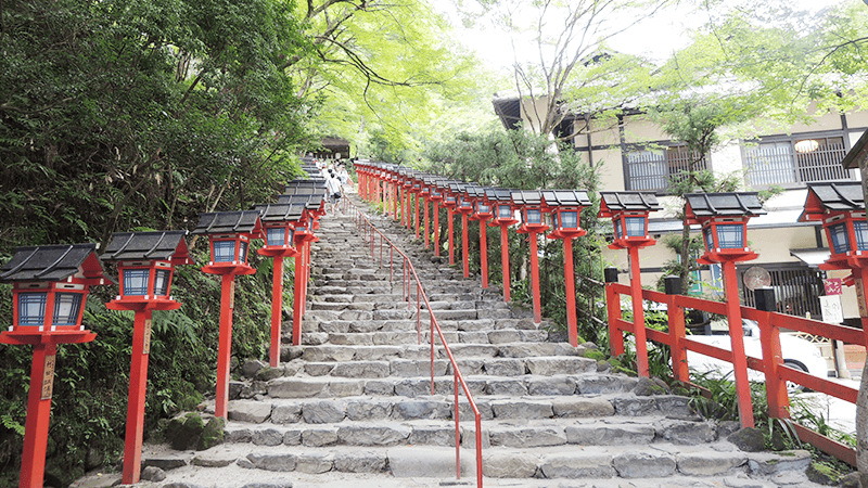 Stone Steps Of Kifune Shrine