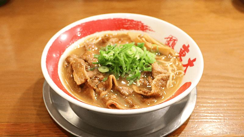 Thin pork belly slices ramen noodle (Regular)