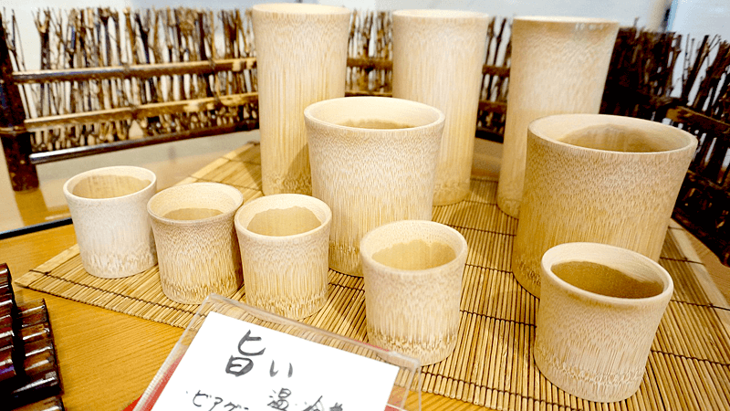 Bamboo drinking cups