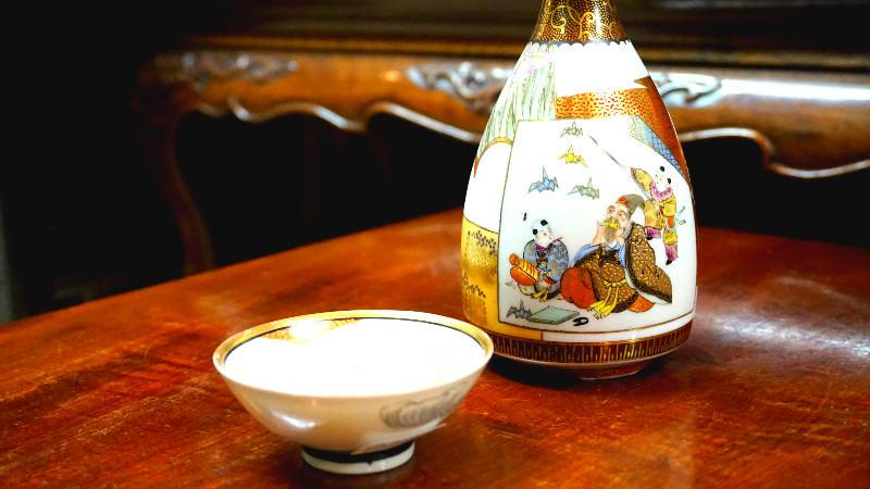 Sake vessels with fun patterns