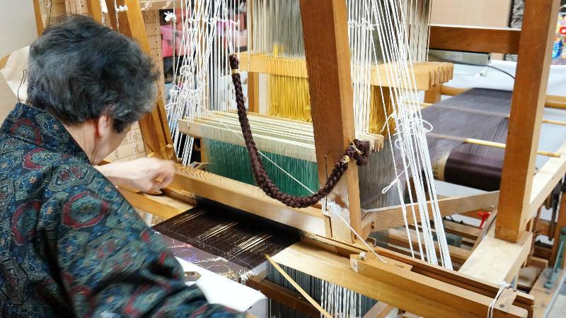 手工紡織展示