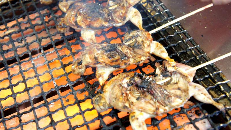 整隻串烤鵪鶉