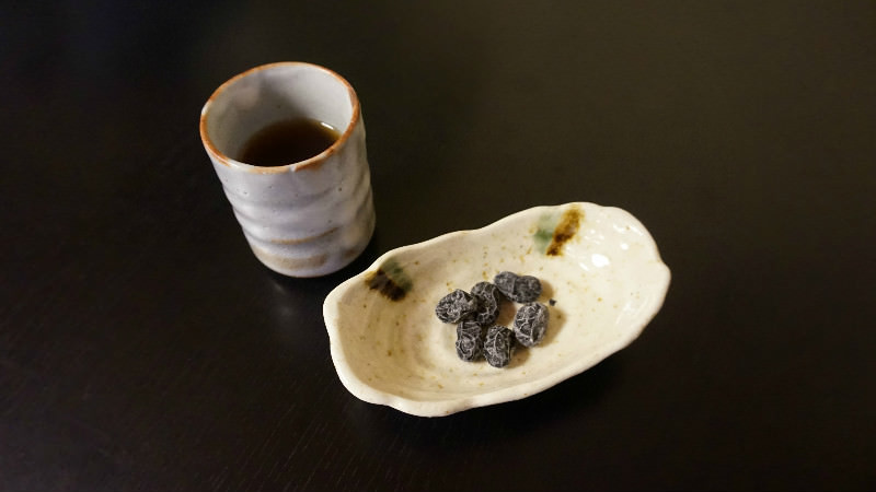 Black beans and roasted tea