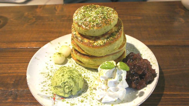 Matcha Japanese pan cake