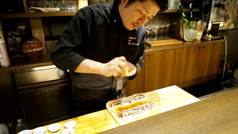 Look at how chef Tominaga works his magic