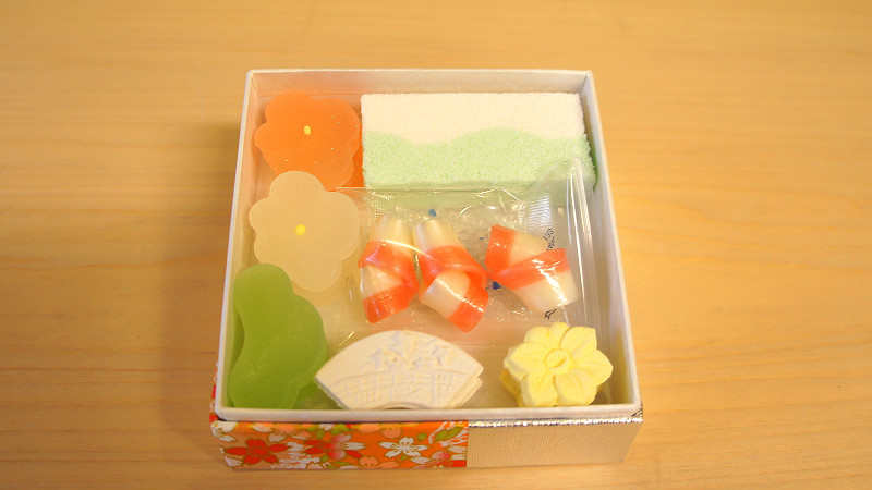 Higashi tsumeawase, Assorted dried confectioneries