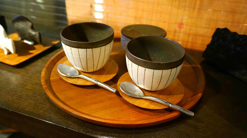 Handmade crafts in the souvenir corner
