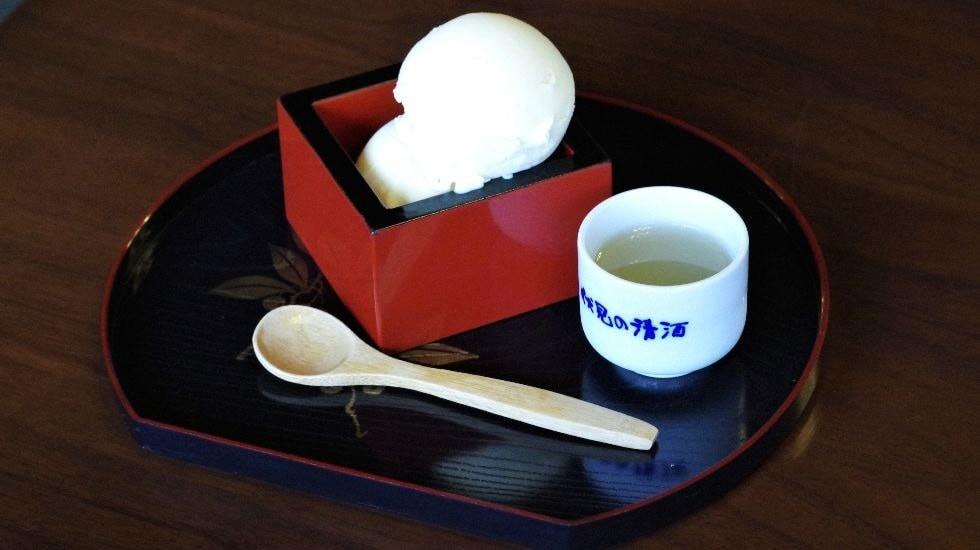 Sake affogato