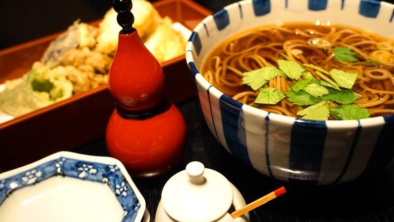 Chicken tempura soba