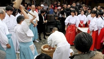 Mochi making ceremony