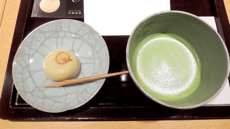 抹茶薄茶「雲鶴」(熱),搭配自選和菓子