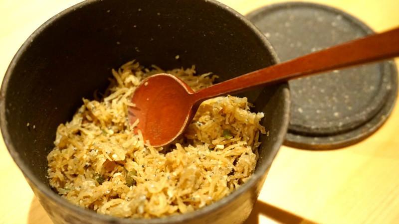 Tsubu miso chirimen (dried young sardines)