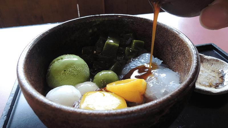 Komori Anmitsu(日式點心組合)綠茶冰淇淋及綠茶凍佐紅豆泥及果凍