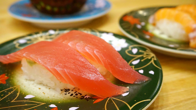 Nigiri sushi of Uogashi, made with great care using fresh fish