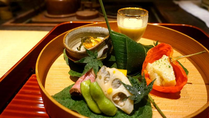 享受京都當季的懷石料理