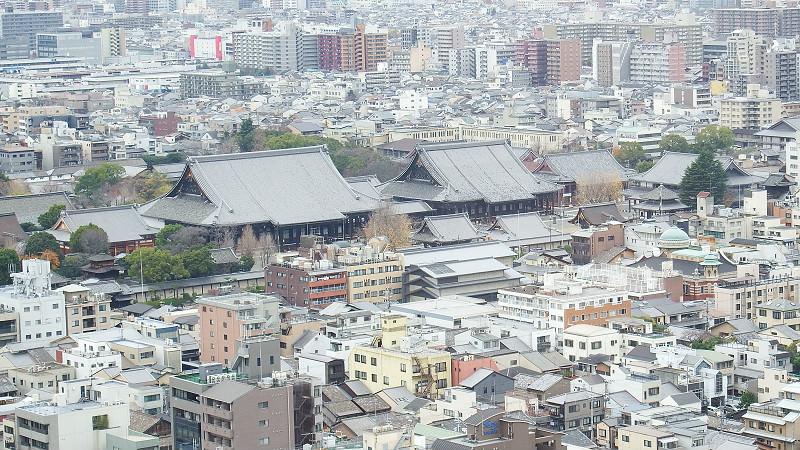 整個京都城市(從遼望塔上)